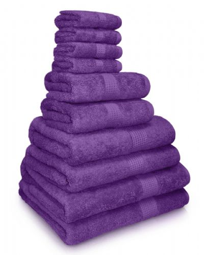 100% EGYPTIAN COMBED COTTON SUPER SOFT 650gms HOTEL QUALITY TOWELS PURPLE COLOUR